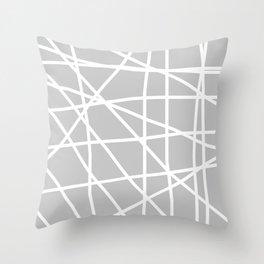 Doodle (White & Gray) Throw Pillow