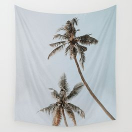 two palm trees Wall Tapestry