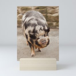 Fat pig Mini Art Print
