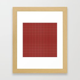 Decorative Bright Red Checkered Pattern Framed Art Print