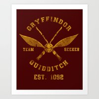 quidditch Art Prints featuring Abercrombie & Quidditch by spacemonkeydr