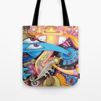 ice cream Tote Bags featuring Ice Cream by Yuliya