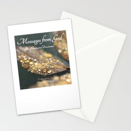 """Book Cover for """"Messages from God: An Illuminated Devotional"""" Stationery Cards"""