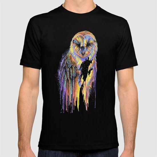 Colorful Owl Dark Background by michellefaberart