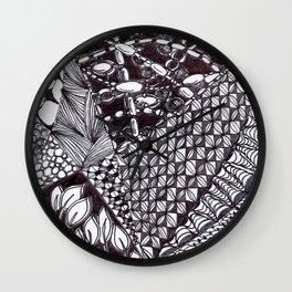 Zen Doodle Graphics zz12 Wall Clock