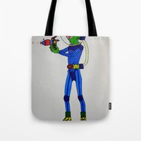 physics Tote Bags featuring Alien Physics  by DApple
