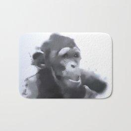 Animals and Art - young Chimp Bath Mat