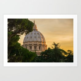 Sunset At The Vatican Art Print