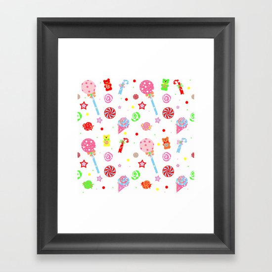 Kid in a Candy Shop Framed Art Print