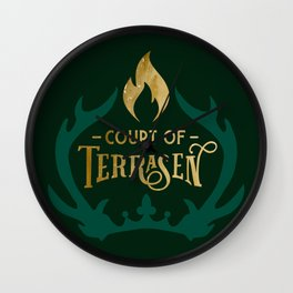 Court of Terrasen Book Quote Wall Clock