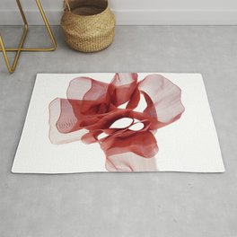 Red tape flower 3 Rug