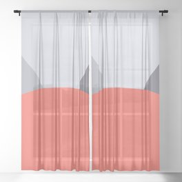Deyoung Living Coral Sheer Curtain