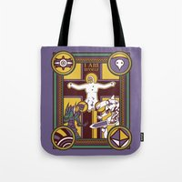 evangelion Tote Bags featuring Illuminated Evangelion by C. A. Neal