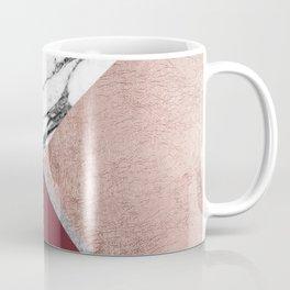 Marble Rose Gold Red Wine Triangle Geometric Coffee Mug