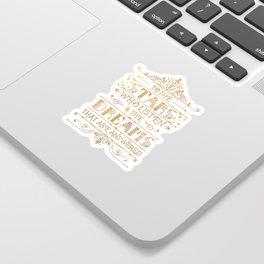 To the Stars - White Sticker