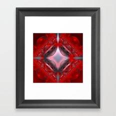 WADA-fractal red Framed Art Print
