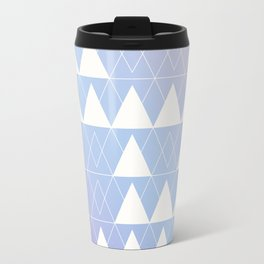 Purple, Blue, Pink, and White Triangle Design Travel Mug