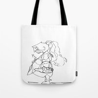 soldier Tote Bags featuring Soldier by Okes