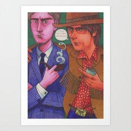 Stagger Meets Lenny Art Print