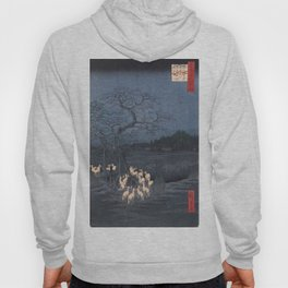 New Year's Eve Foxfires at the Changing Tree, Hiroshige Hoody