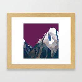 Geo Mountain Range (Part 3) Framed Art Print