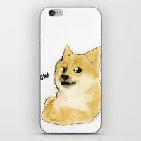 doge iPhone & iPod Skins featuring they call me doge by joanarolo