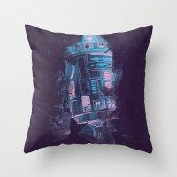 r2d2 Throw Pillows featuring R2D2 by Sitchko Igor