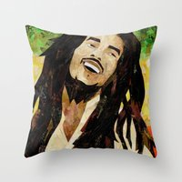 marley Throw Pillows featuring Marley Collage by Emily Harris