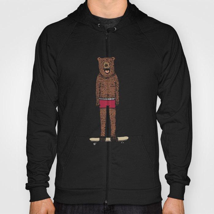 Bear + Skateboard Hoody