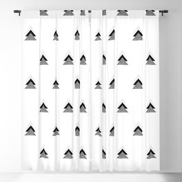Arrows Collages Monochrome Pattern Blackout Curtain