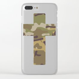Cross Camouflage Symbol Gift Clear iPhone Case