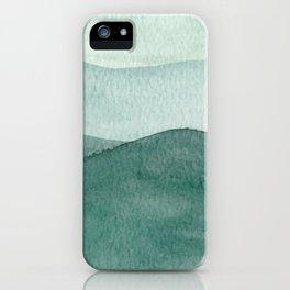 Green Mountain Range iPhone Case