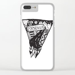 Psychoville black ink drawing Clear iPhone Case
