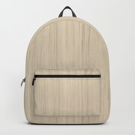 Beige / Tan / Neutral  Smooth Wood Grain Pattern Pairs To 2020 Color of the Year Chinese Porcelain Backpack