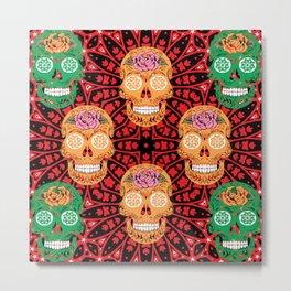 Skulls And Sugars Skulls  Metal Print