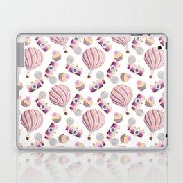 hot-air balloons, cameras and cupcakes Laptop & iPad Skin