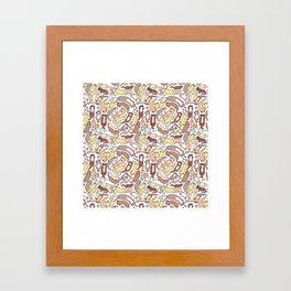 Adorable Otter Swirl Framed Art Print