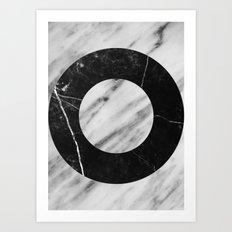 Bw Marble Art Print
