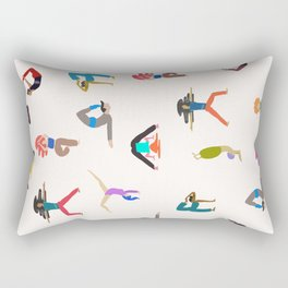 yoga lovers Rectangular Pillow