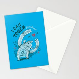 I can touch your heart Stationery Cards