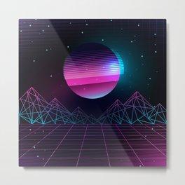 Synthwave Universe Metal Print