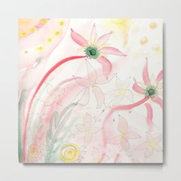 Summer flower meadow Metal Print