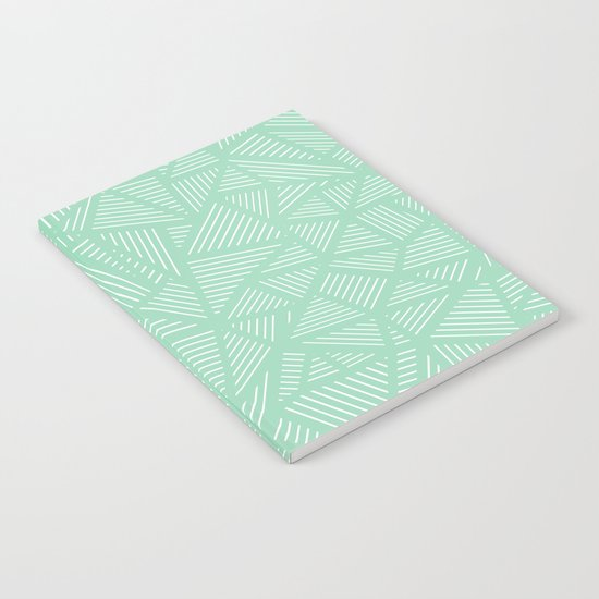 Geo Lines Mint Notebook
