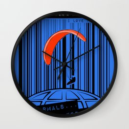 Paragliding: THERMAL ARE NOT FOR SALE! I love thermal. Wall Clock