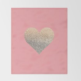 GOLD HEART CORAL Throw Blanket