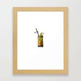 Drinking Ok But First Tequila Sunrise Framed Art Print