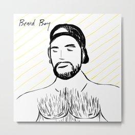 Beard Boy Colour Splash 7 Metal Print