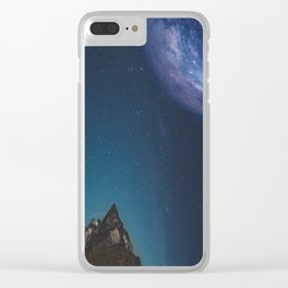 Awakening of night Clear iPhone Case