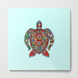 Exotic Gem Turtle Metal Print