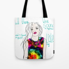 sounds in my head Tote Bag